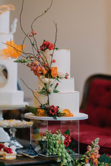 Colourful wedding shoot at Thicket Priory